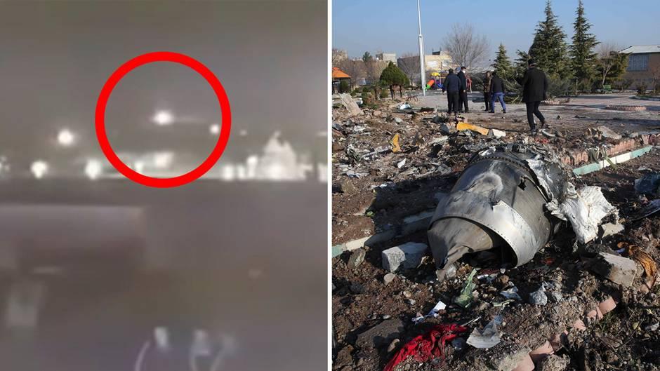 Abschuss der ukrainischen Boeing 737-800 nahe Teheran.