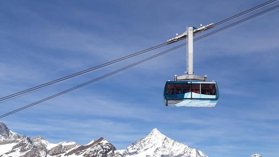 Eine Bergbahn in der Schweiz