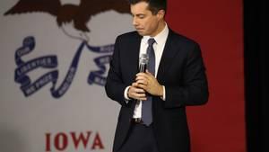 Der demokratische Bewerber Pete Buttigieg bei einer Wahlkampfveranstaltung in Sioux City, Iowa