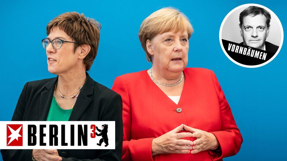 CDU-Chefin Annegret Kramp-Karrenbauer und Bundeskanzlerin Angela Merkel