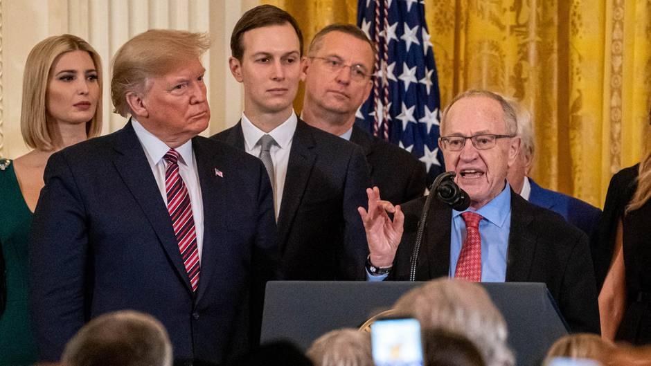 Alan Dershowitz will Donald Trump im Impeachment-Verfahren beistehen
