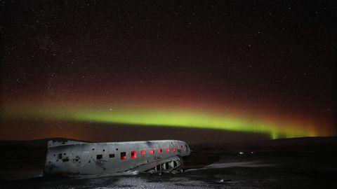 Das Wrack des 1973 abgestürzten Flugzeugs ist ein beliebtes Ausflugsziel
