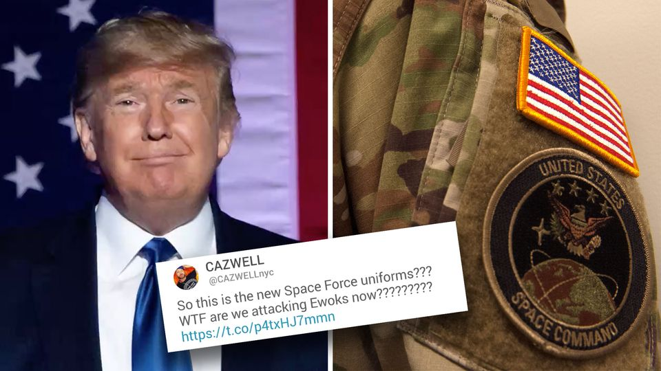 Twitter lacht über die Uniformen von Donald Trumps Space Force