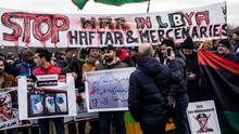 Demonstrationen am Rande der Libyen-Konferenz
