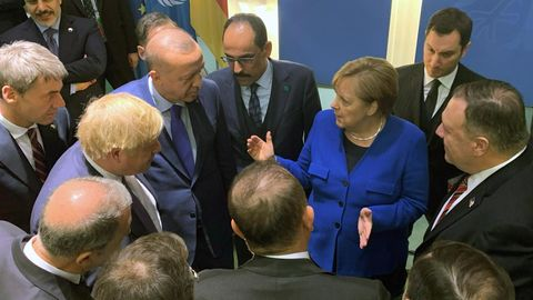 Libyen-Gipfel: Runde mit Merkel, Erdogan, Johnson, Pompeo
