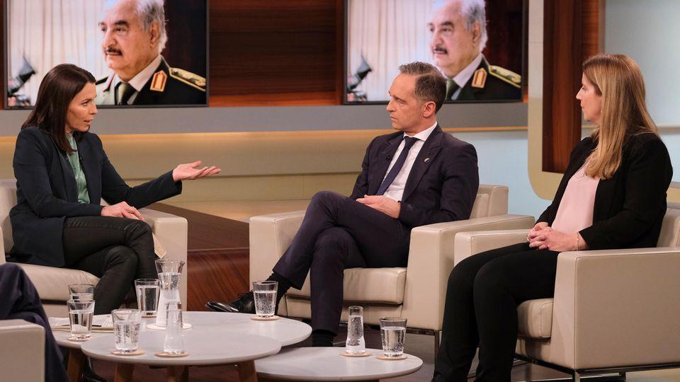 """Zeigt sich zufrieden mit den Ergebnissen der Libyen-Konferenz: Bundesaußenminister Heiko Maas bei """"Anne Will"""""""
