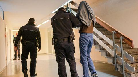 Der Angeklagte im Freiburger Landgericht