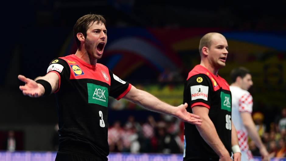 Handball-EM: Kapitän Uwe Gensheimer schreit nach dem Kroatien-Spiel seinen Frust heraus