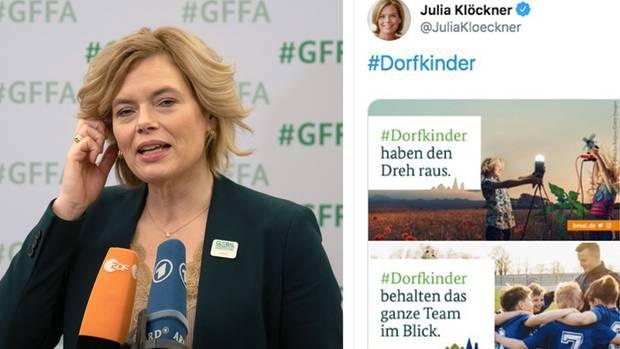 """Julia Klöckners """"#Dorfkinder""""-Kampagne wird zum Eigentor"""