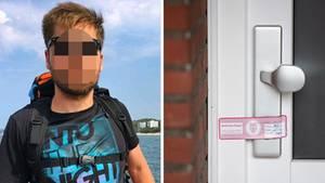 Vermisster Matheus A. aus Hamburg, Polizeisiegel an einer Wohnungstür
