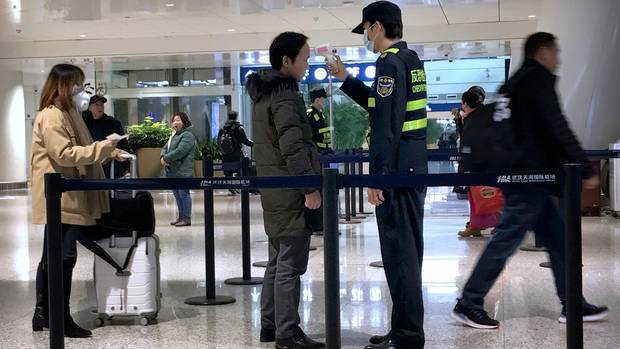 Flughafen Wuhan Corona Virus