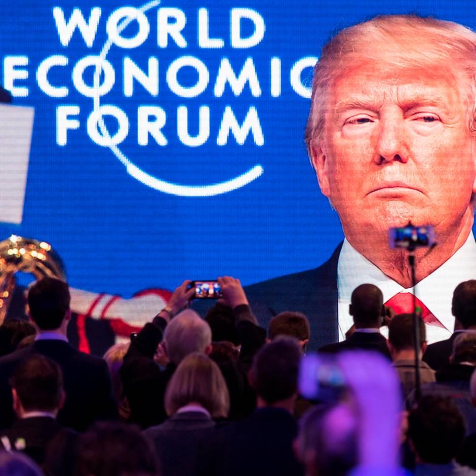 Davos: Weltwirtschaftsforum: Um 11.30 Uhr beginnt Trump seine Rede
