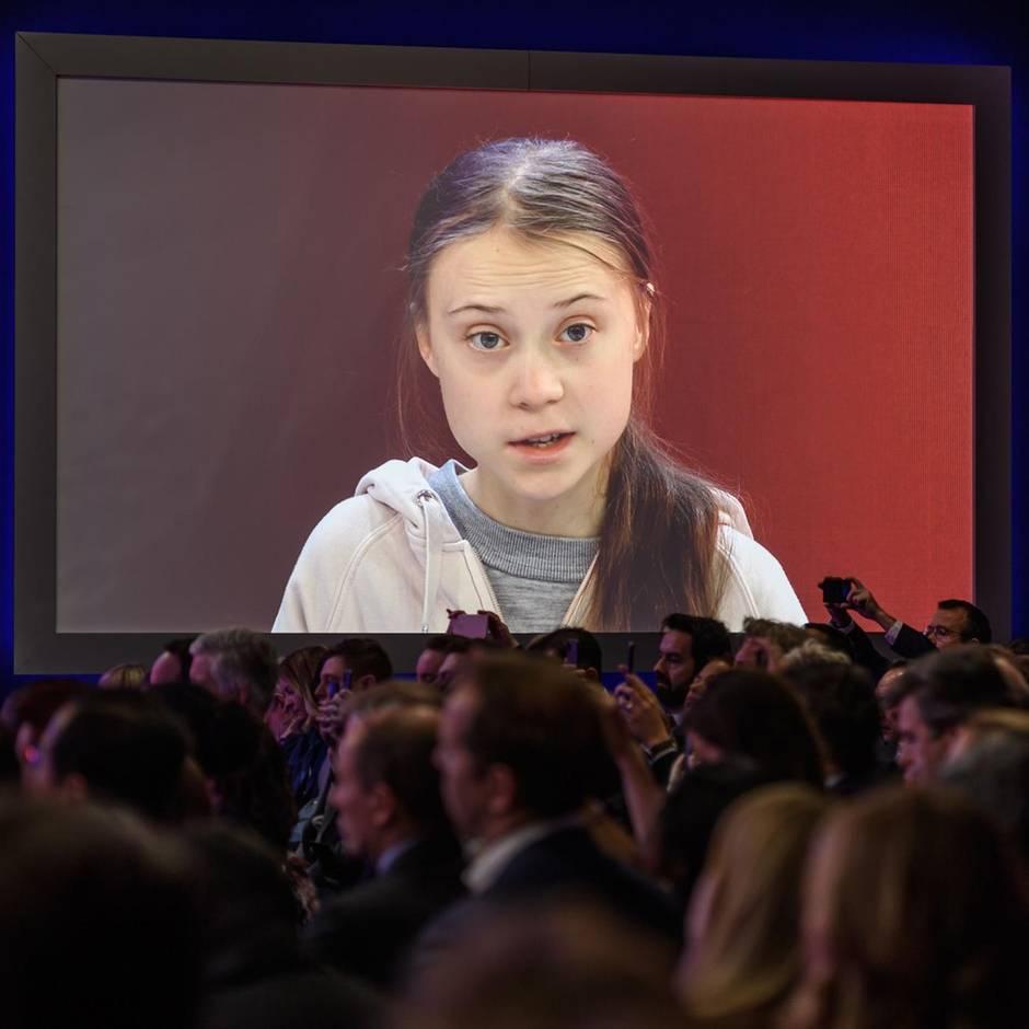 Davos: Weltwirtschaftsforum: Greta Thunberg redet den Mächtigen ins Gewissen