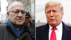 Alan Dershowitz (l.) gehört im Amtsenthebungsverfahren gegen Donald Trump zu dessen Verteidigerteam