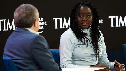 Natasha Mwansa in Davos