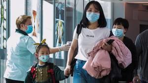 Coronavirus: Reisende aus China am Flughafen Singapur