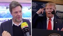 """Habeck gegen Trump: """"Eine bockige, pubertierende Rede"""""""