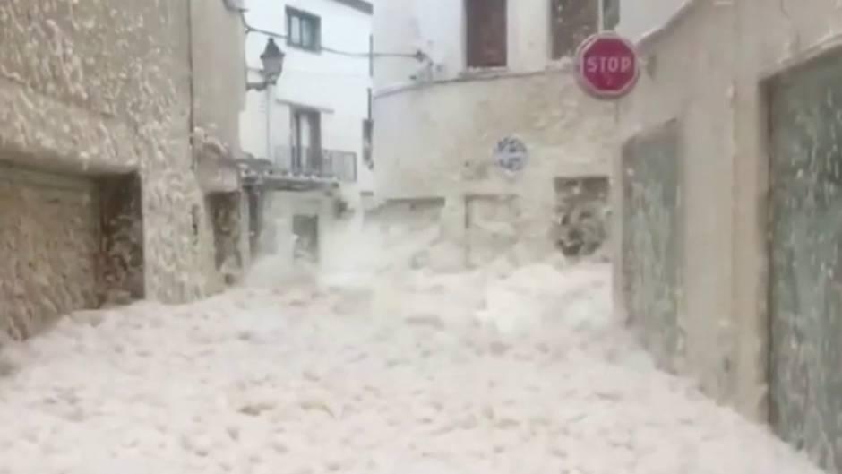 In Spanien wütete der Sturm