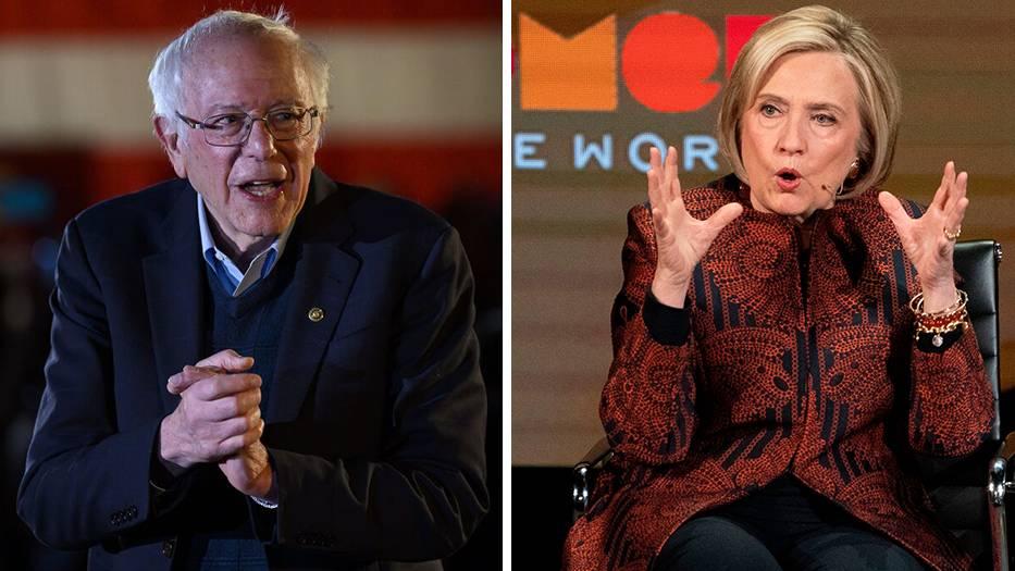 Bernie Sanders und Hillary Clinton bei TV-Auftritten