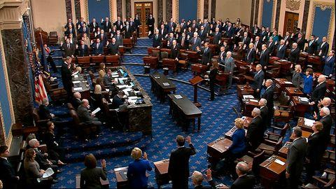 John Roberts, Oberster Richter in den USA, vereidigt die Senatoren