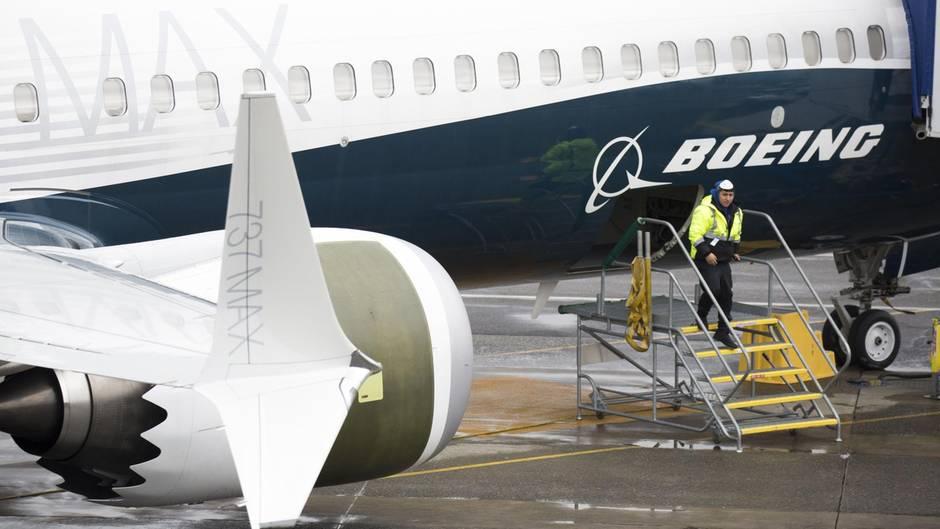 Eibne Boeing 737 Max 9 steht auf dem Boeing Airfield in Renton im Bundesstaat Washington