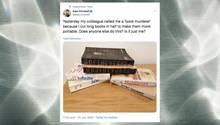 Mann auf Twitter zerteilt Bücher