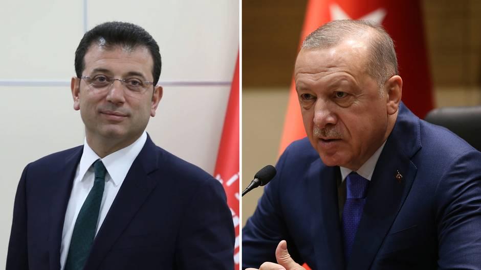 Ekrem Imamoglu und Recep Tayyip Erdoğan