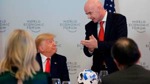 Donald Trump und Gianni Infantino