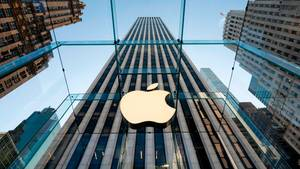 Ein Apple Store an der Fifth Avenue in New York