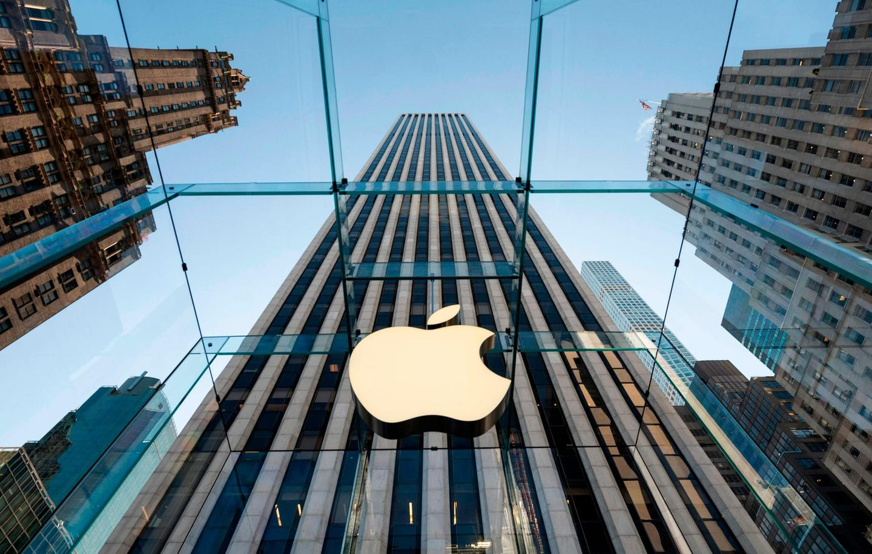 Ein Apple Store an der Fifth Avenue in New York