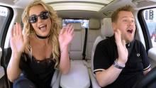 "James Corden und Britney Spears bei ""Carpool Karaoke"""