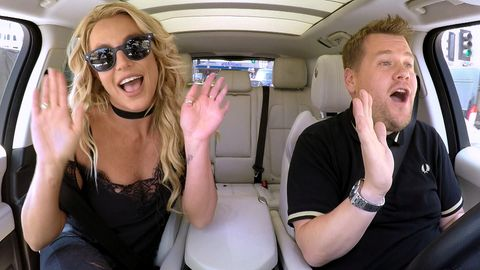 "James Corden und Britney Spears bei ""Carpool Karaoke"""