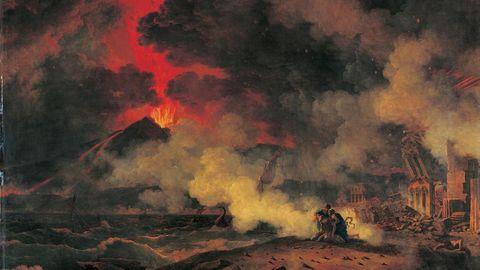 Ausbruch des Vesuv und der Tod des Plinius von Pierre Henri de Valenciennes