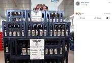 Bierflasche mit Nazi-Symbol