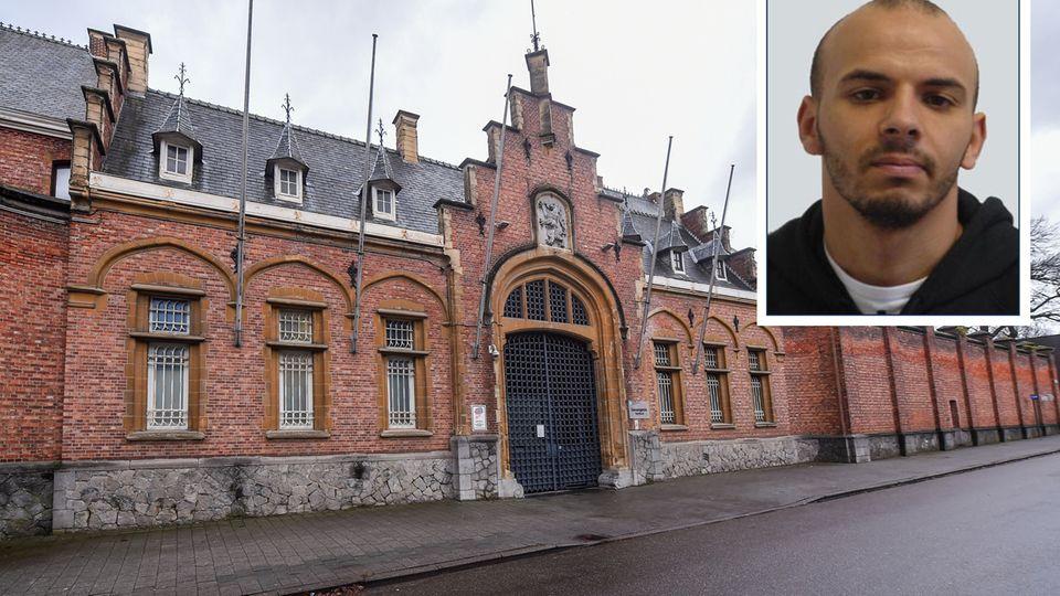 Das Gefängnis in Turnhout, aus dem Oualid Sekkaki am 19. Dezember 2019 vier weiteren Häftlinge flüchtete