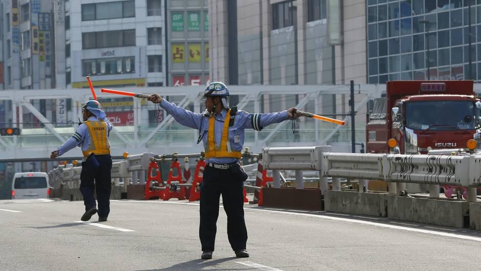 Baustelle Absperrung Japan