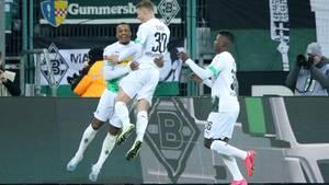 Alassane Plea macht die Borussia froh: Der französische Angreifererzielte zwei der drei Treffer gegen Mainz