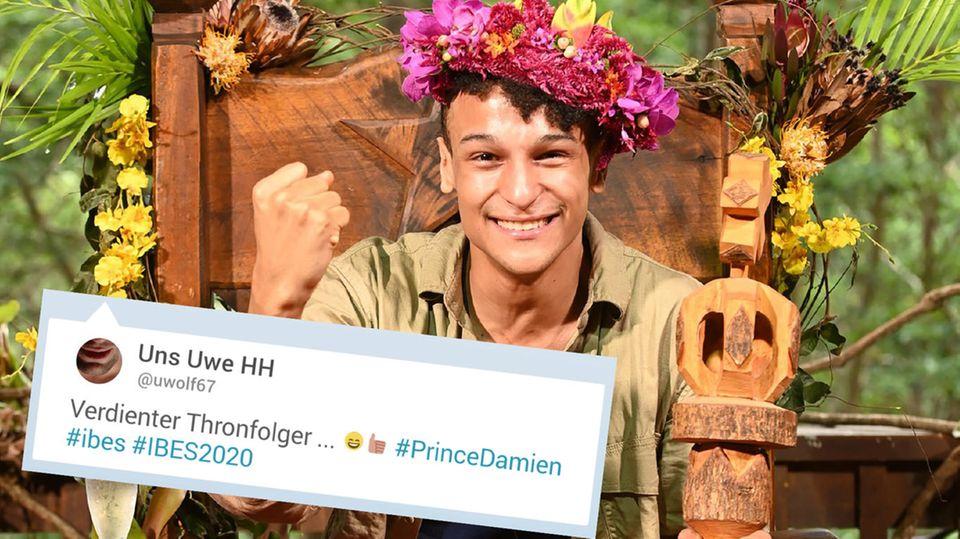 Dschungelcamp 2020: Prince Damien wird zum König gekrönt