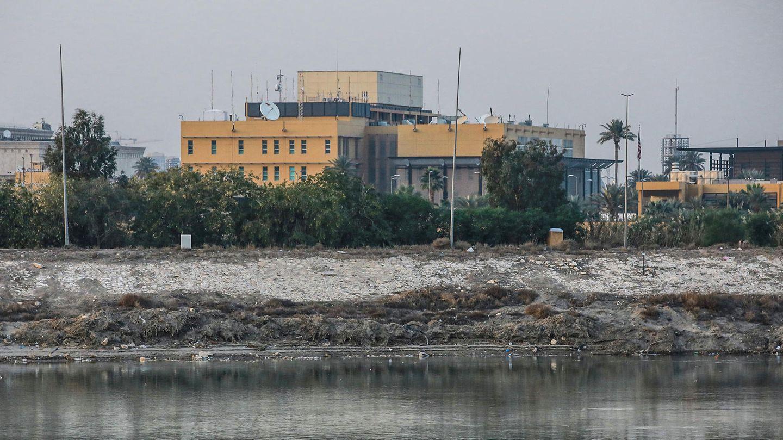 Die US-Botschaft in Bagdad an dem Fluss Tigris (Archivbild)