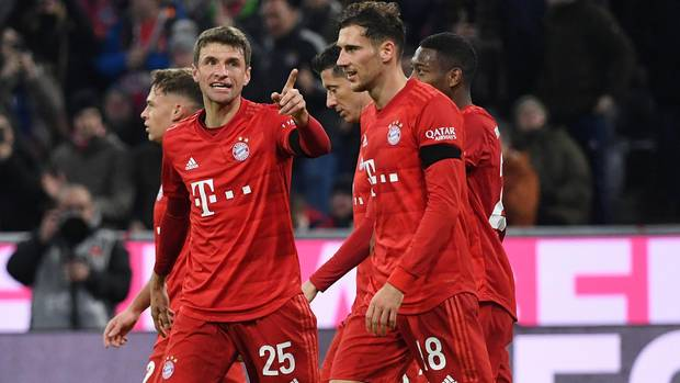 Voll unter Strom: Thomas Mülle,Leon Goretzka und die Bayernmarschieren wieder Richtung Tabellenspitze