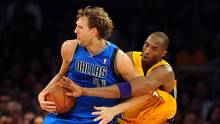 Dirk Nowitzki und Kobe Bryant