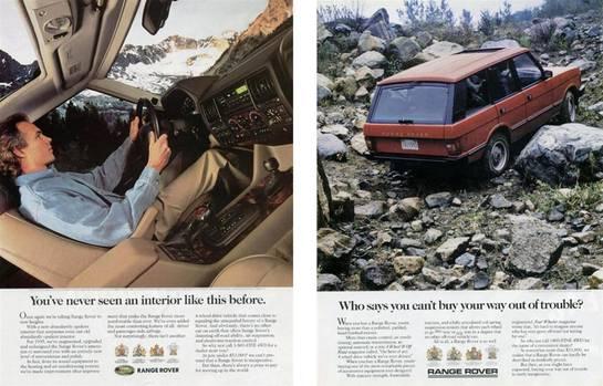 Anders als die heutigen SUV-Käufer besaß der Besitzer eines Range Rovers genügend Land, um sein Fahrzeug auch zu benutzen.