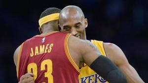 LeBron James und Kobe Bryant