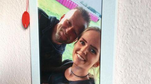 Fabien Martini mit ihrem Vater Christian auf einem Foto