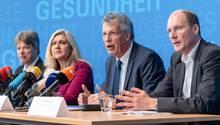 Pressekonferenz im bayerischen Staatsministerium für Gesundheit und Pflege