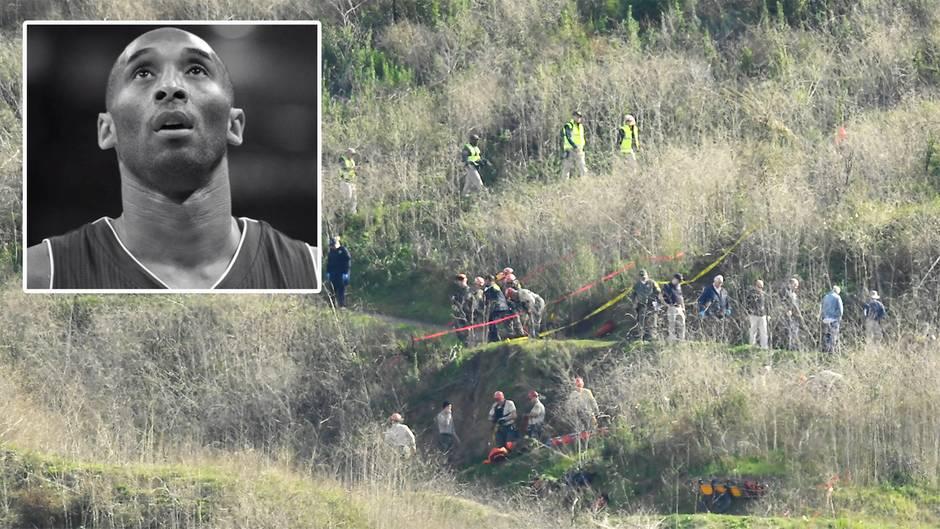 Kobe Bryant: Behörde untersucht Absturzstelle des Hubschraubers
