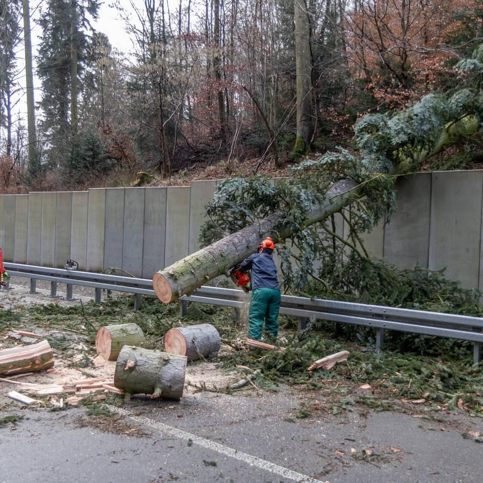 Am Dienstag: Auch Orkanstärke möglich: Wetterdienst warnt vor starkem Wind