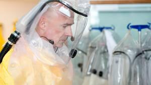 Coronavirus: Ein Bild aus der Sonderisolierstation im Klinikum Schwabing in München