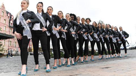 """Die 16 Kandidatinnen für die Wahl der diesjährigen """"Miss Germany"""""""