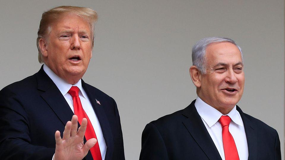 US-Präsident Donald Trump (l.) und der israelische Premier Benjamin Netanjahu